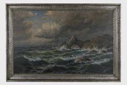 Max Jensen (Marinemaler in Berlin, 1887 geb.) Bewegte See, signiert M. Jensen, Öl auf Leinwand,