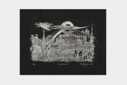 Ernst Degasperi (Meran 1927- 2011 Wien) Radierung, Fröhliches Wien, Nr. 50 von 99 num. Abzügen, 34,
