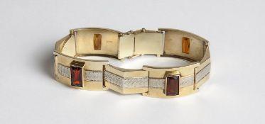 Armkette Gold 585, mit Citrinen, Länge ca.18 cm, Steckschließe, Sicherheitsverschlüsse, teilweise