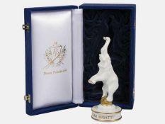 "Pokal in Form eines Elefanten feines Porzellan, Marke Payer Porcelain, ""100 Years Car Bugatti"","