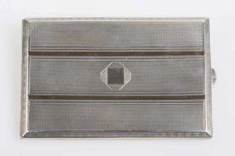 Tabatiere Silber 800, gouillochiert, Goldauflage, 143,8 g;