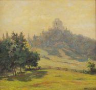Albert Kollmann (Wien 1878-1962 Eisenstadt)Ruine Landsee, signiert Albert Kollmann, Öl auf