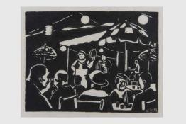 Branko Suky (1950 geb. in Maribor/Slowenien)(Studium an der Akademie Ljubljana), 2 Holzschnitte,