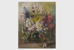 Alois Zabelicky (Wien 1883-1962)Sommerblumenstrauss, signiert A. Zabelicky, Öl auf Leinwand, 60x51,5
