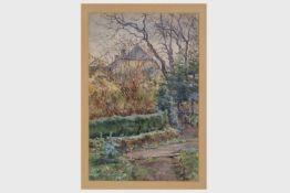 Karl Graf (1859-1925)Wohnhaus des Malers in der Böckgasse, Wiener Neustadt, Aquarell auf Papier,
