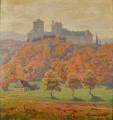 Albert Kollmann (Wien 1878-1962 Eisenstadt)Oktobersonne in Lockenhaus, signiert Albert Kollmann,