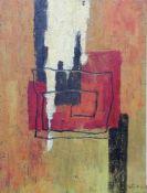 Kurt Freundlinger (Steyr 1930 geb.)Zentrale Linie, signiert K.Freundlinger, Öl mit Sand auf
