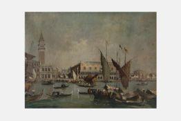 Bild Anfang 20.Jh.,Venedig mit Blick auf den Dogenpalast, Öl auf Leinen, 44x60cm, gerahmt;;