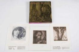 Ernst Fuchs (Wien 1930-2015) Acht Radierungen zur Vorzugsausgabe Ernst Fuchs - Monographie: a)