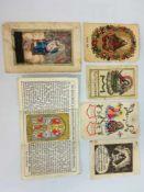 6 alte Heiligenbildchenu.a. Maria Zell, Nativitas Christi, s.Maria, Gebrauchsspuren;