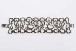 ArmketteSilber 925, Markasiten, Länge 18cm, 64,6g;