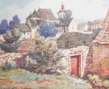 Albert Kollmann (Wien 1878-1962 Eisenstadt)Maydenkirche in Eisenstadt, signiert, Aquarell/Gouache,