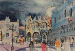 Franz Oberger (Wr.Neustadt 1948) (freischaffender Künstler in Wr.Neustadt), Venedig, Markusplatz,