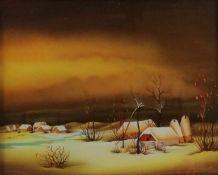 Nada Hegedusic Jankovic (1943 in Hlebine/Kroatien (Schülerin von Ivan Generalic), Landschaft,