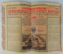 30 Stück Prämien-SchuldverschreibungÖsterreichische Gesellschaft vom Roten Kreuze 1916, Nennwert