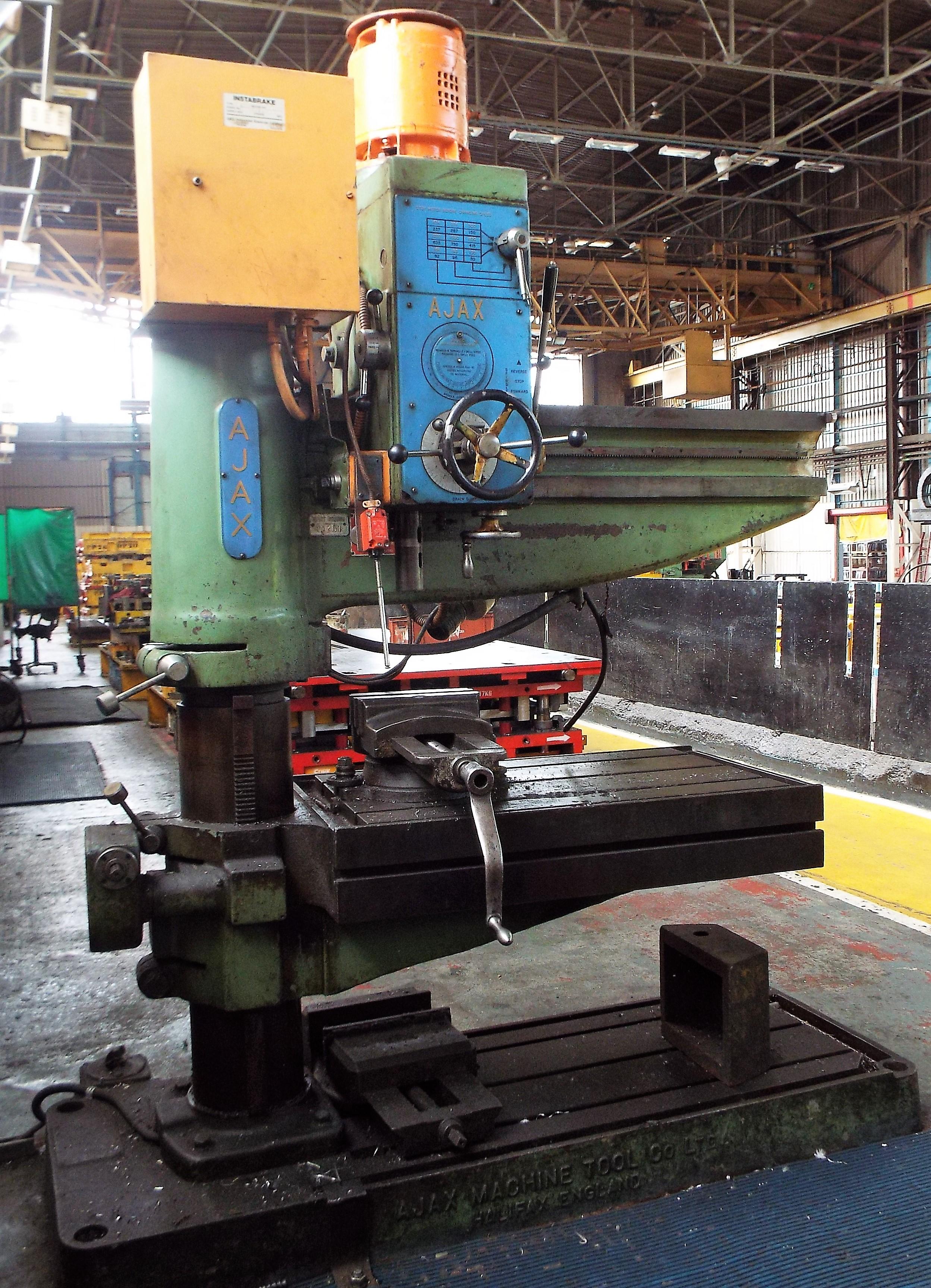 Lot 12 - Ajax Machine Tool Co Radial Arm Drill