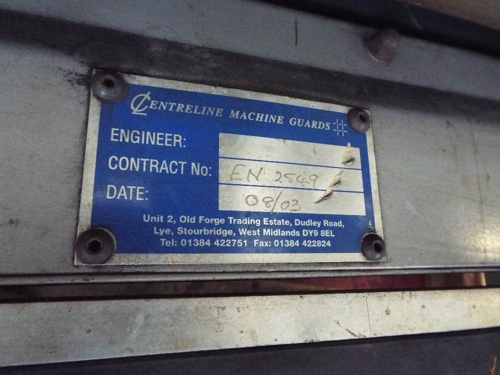 Lot 18 - Centreline Machine Guards Fast Rise & Fall Door