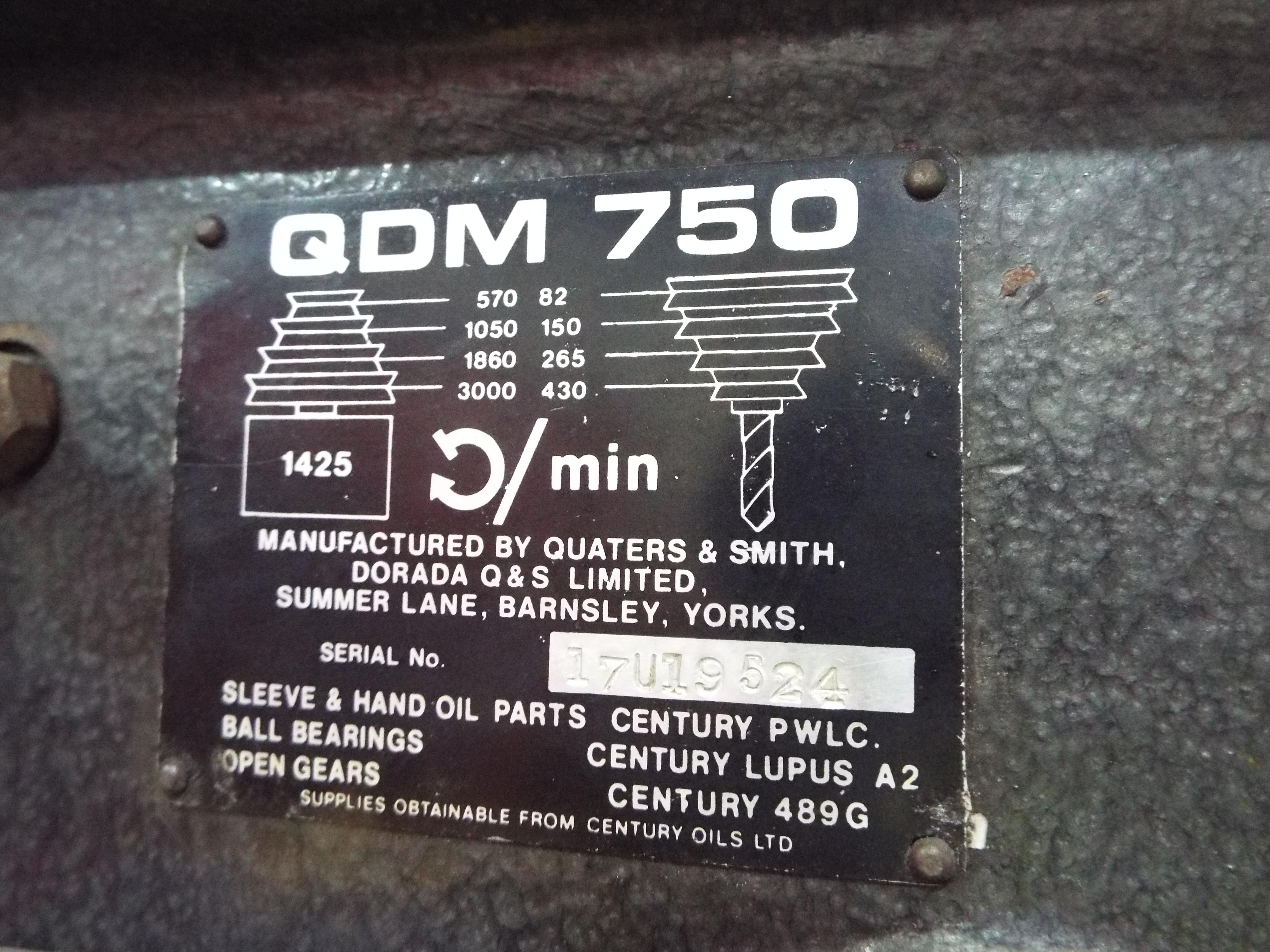 Lot 11 - QDM750 Pillar Drill