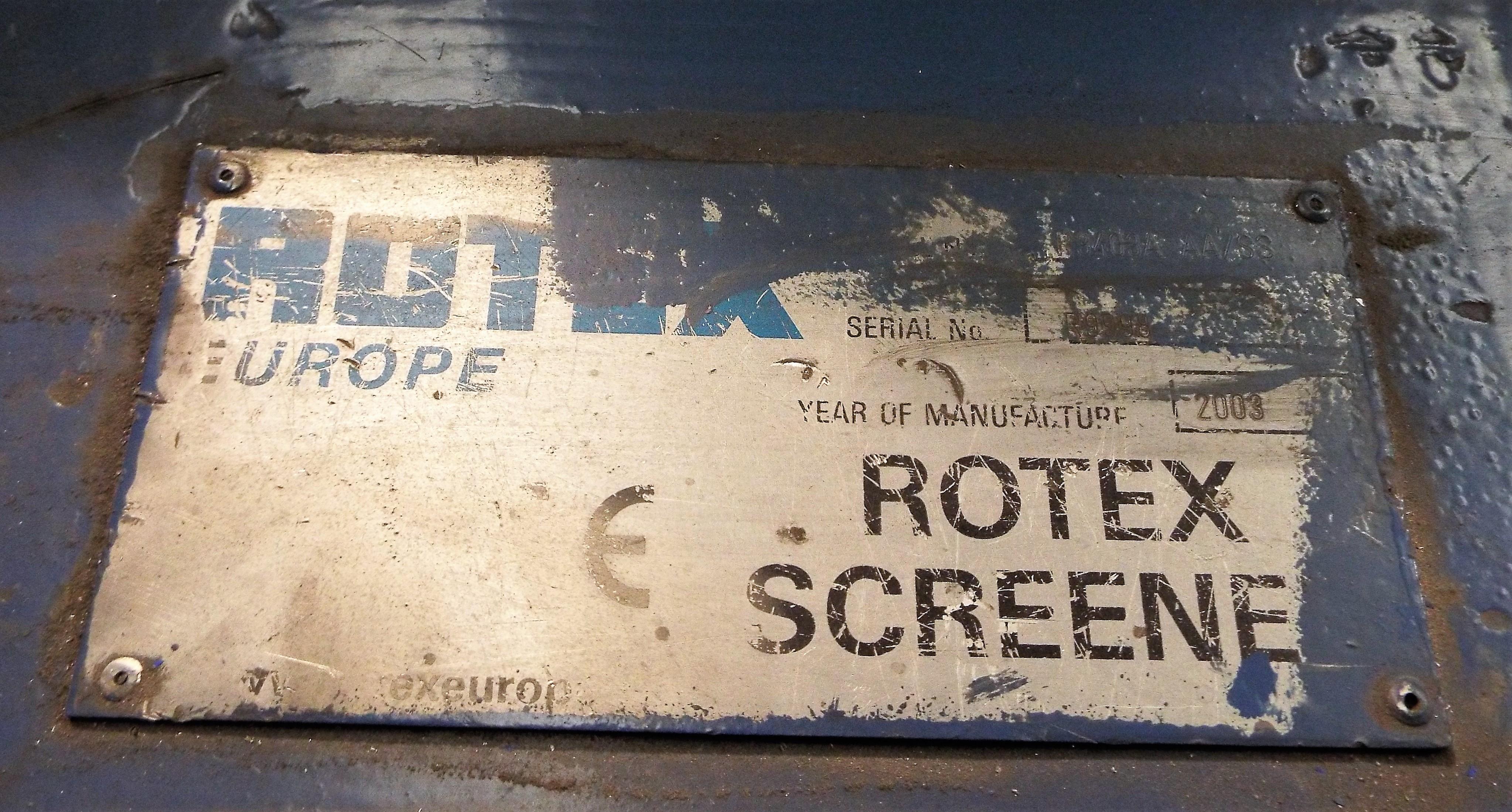 Lot 11 - Rotex (Europe) Screener