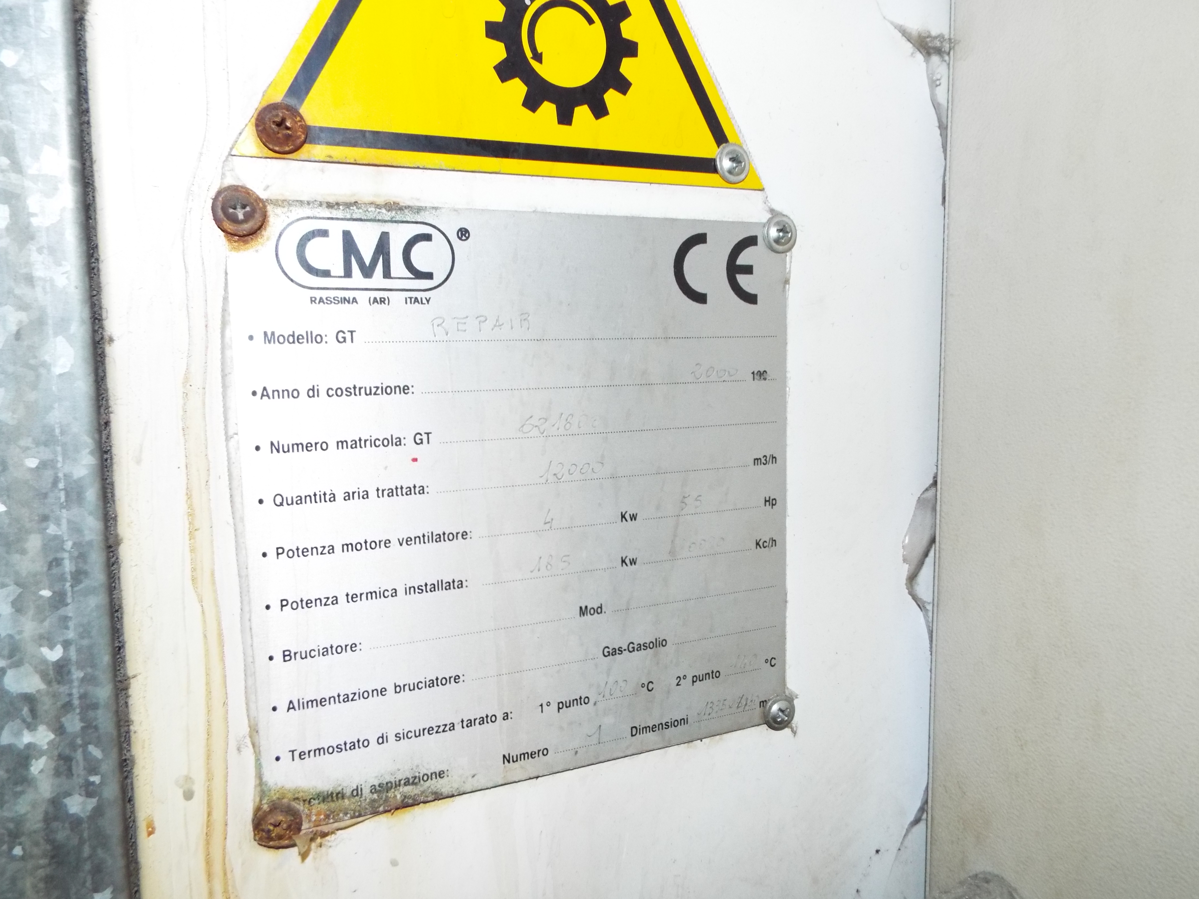 Lot 15 - CMC Eurotecno Spray Bake Booth