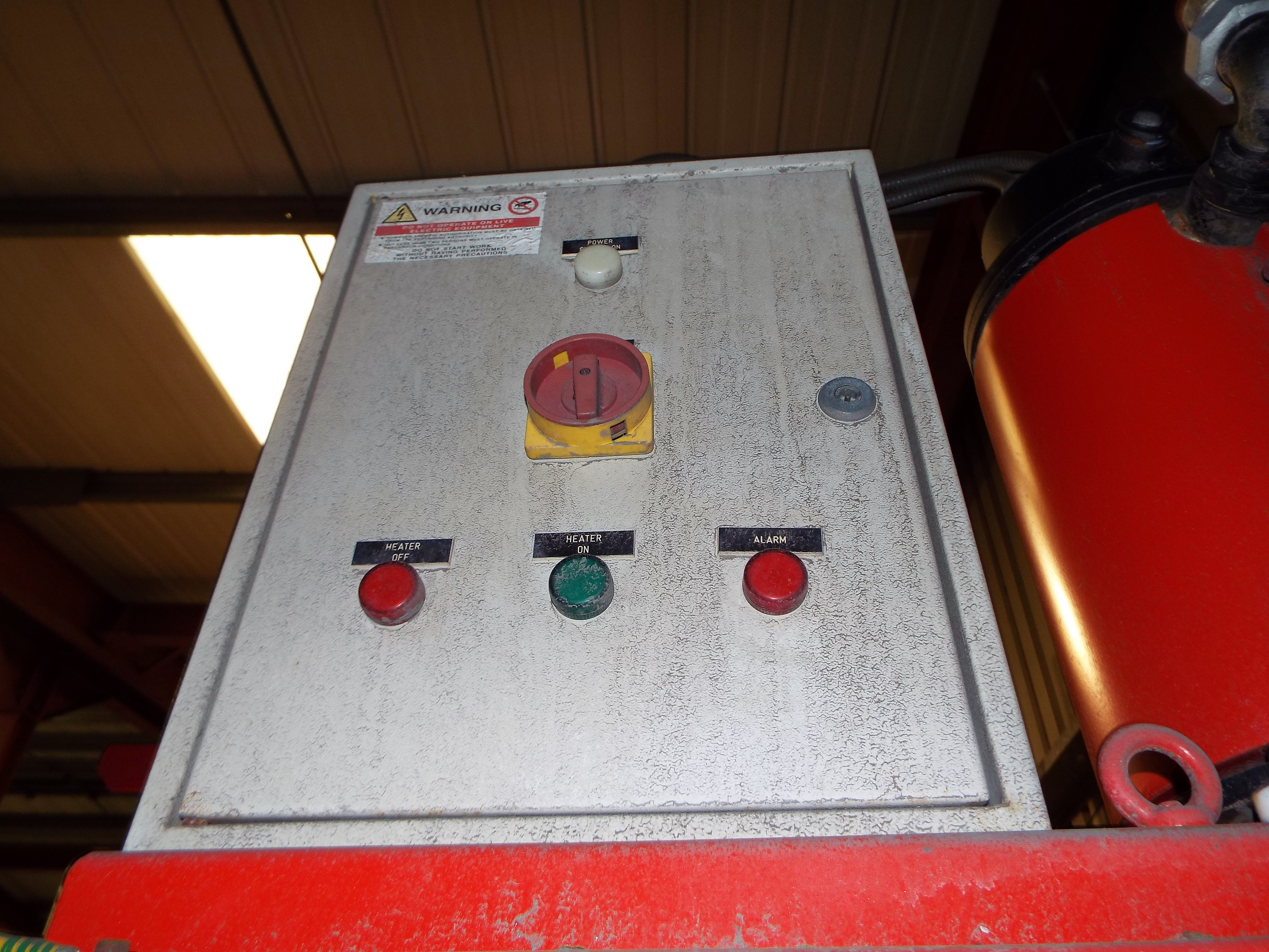 Lot 9 - Omega Foundry Machinery Gassing Cabinet cw Gassing Plate,Secondary Heater & Gas Generator.