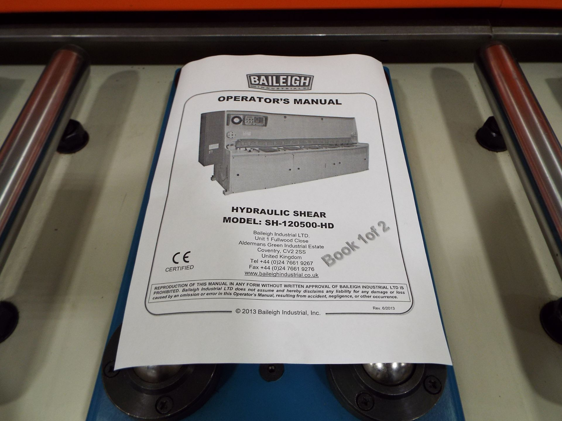 Lot 4 - Baileigh Hydraulic Shear - Type SH-120500HD