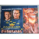 """Collection of 5 disaster film British Quad Film Posters 30x40"""" including: The Towering Inferno"""