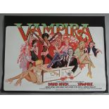VAMPIRA 1974 rolled first release British Quad film poster printed by W. E.