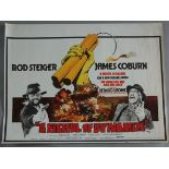 """A collection of 10 rolled British Quad film posters including """"A Fistful of Dynamite"""" directed by"""
