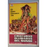 """A collection of 6 foreign film posters including """"Creatures the World Forgot"""" Spanish 28 x 40 inch,"""