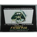 """A collection of 15 rolled British Quad film posters including """"The House of Exorcism"""" X cert"""