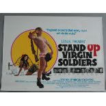 """A collection of 23 rolled British Quad film posters including """"Stand Up Virgin Soldiers"""" starring"""