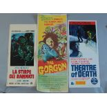 Ten horror genre foreign film posters including The Gorgon US insert,