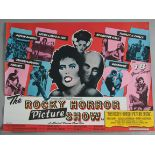 ROCKY HORROR PICTURE SHOW 1975 first release rolled condition British Quad film poster printed by W.