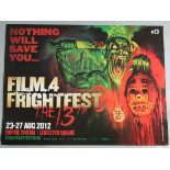 12 Horror genre British Quad film posters including Graham Humphreys artwork Frightfest poster for