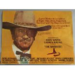 THE SHOOTIST 1976 first release rolled condition great Western British Quad film poster starring