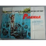 """Collection of Horror British Quad film posters measuring 30 x 40"""" including Hammer Horror titles"""