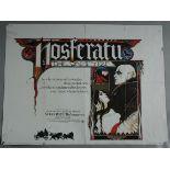 15 Horror genre British Quad film posters including Nosferatu st Klaus Kinski,