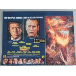 """A collection of 14 previously folded now rolled film posters including """"The Towering Inferno"""""""
