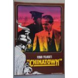 A collection of 15 foreign film posters including Chinatown x2 (German,