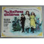 THE RAILWAY CHILDREN 1970 first release rolled condition British Quad film poster with full colour
