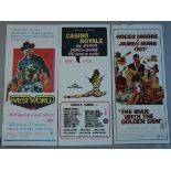 A collection of six Australian day-bills including Casino Royale starring Peter Sellers,