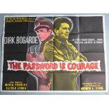 """The Password is Courage (1962) British Quad Film Poster 30x40"""","""
