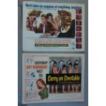 """A collection of 14 US half sheets 22 x 28 inch including """"The Cincinnati Kid"""" 1965 starring Steve"""