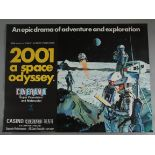 2001 A SPACE ODYSSEY 1968 first release British Quad film poster directed by Stanley Kubrick