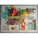 WALT DISNEY collection of British Quad film posters including;