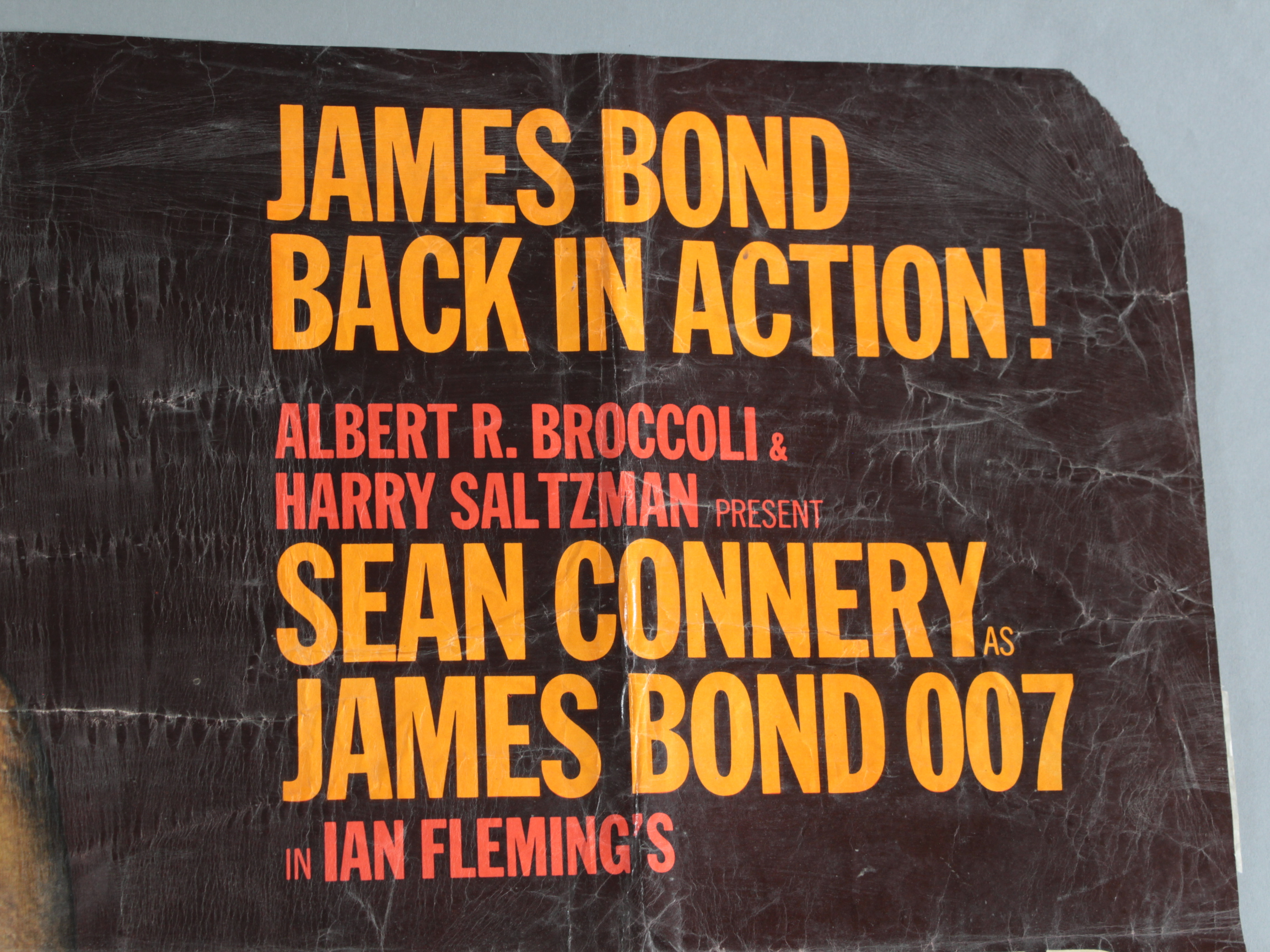 """""""Goldfinger"""" 1964 British Quad film poster with art by Robert Brownjohn. - Image 7 of 25"""