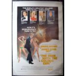 """""""The Man with the Golden Gun"""" 1974 US one sheet film poster style B (41 x 27 inches) starring Roger"""