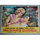 Passionate Summer (1958) original 1st release British Quad Film Poster S. Virginia McKenna.