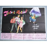 """Collection of musical themed British quad film posters 30 x 40"""" including """"Seven brides for 7"""